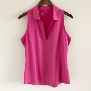 Nike Golf Lux Racerback Polo 2.0 Pink Size Large